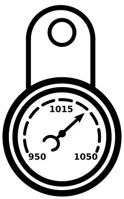 Icône montrant un baromètre