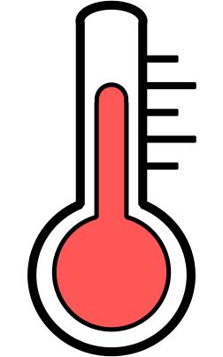 Icône montrant un thermomètre