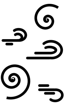 Icône symbolisant le vent