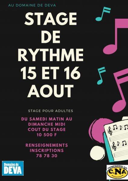 Stage de musique pour adultre - stage de rythme - au Domaine de déva à Bourail