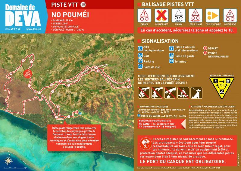 piste VTT N°10 au Domaine de Déva niveau rouge