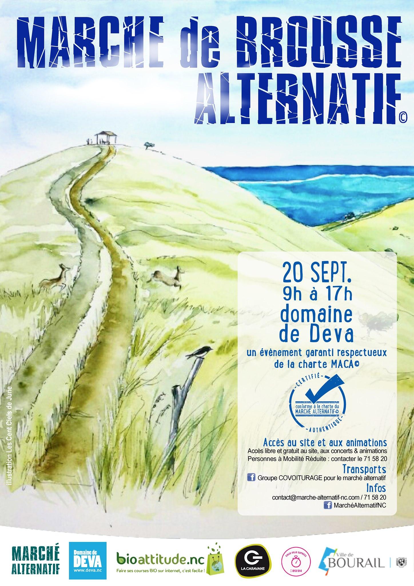 Le Grand marché alternatif de Brousse aura lieu le 20 septembre autour de la grande case du Domaine de Déva avec de nombreux artisans, producteurs, tribus de la région, des animations pour toutes la famille.