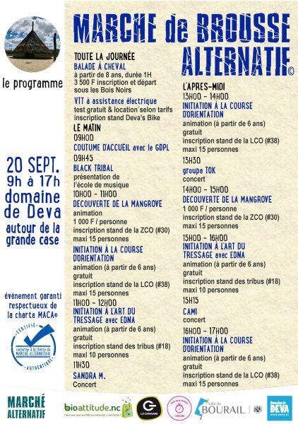 Marché de Brousse Alternatif au Domaine de Déva à Bourail !