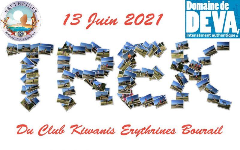 Trek du Kiwanis Club les Erythrines du Bourail au Domaine de Déva pour les sportifs et les familles en faveur des enfants.
