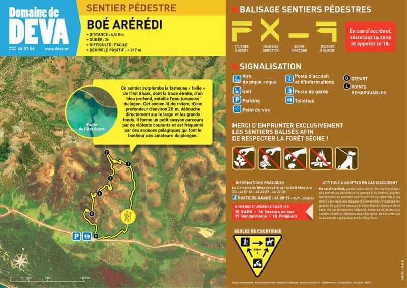 Randonnée à pieds - Tracé Sentier Boe Areredi - Domaine de Déva