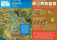 Tracé piste VTT Bleue No Bouaou - Domaine de Déva