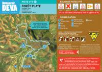 Tracé piste VTT bleue de la forêt plate