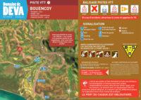 Tracé piste VTT rouge Bouencoy