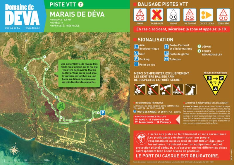 Trace piste VTT Le Marais de Deva