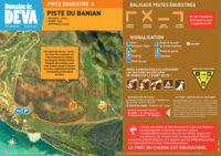 Tracé piste du Banian - Domaine de Déva