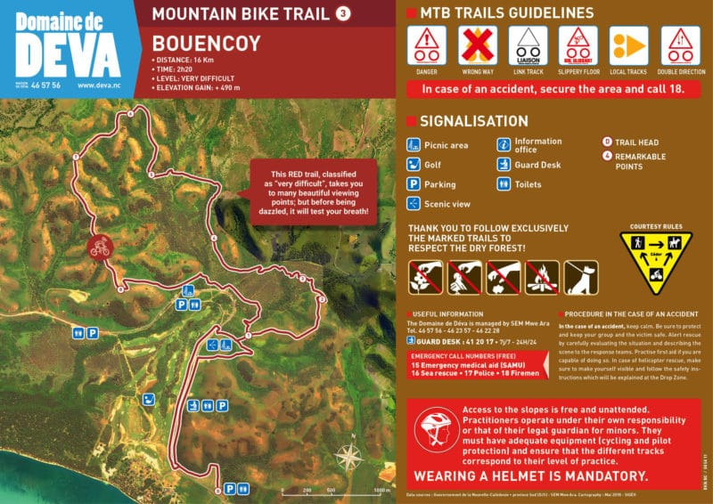 "Red ""Bouencoy"" mountain bike track"