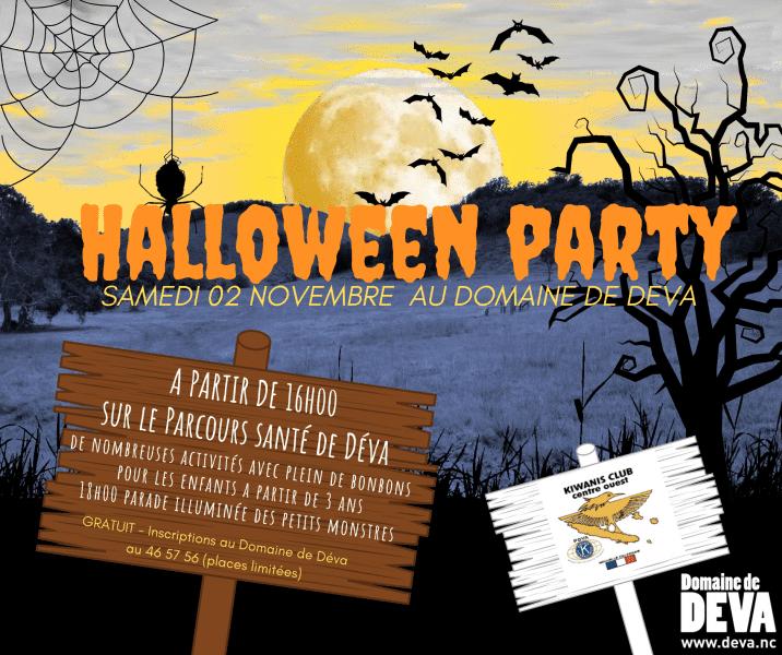 après midi récréatif pour les enfants sur le parcours santé de Déva pour Halloween organisé par le Domaine de Déva à Bourail et le Kiwanis Club Centre Ouest.