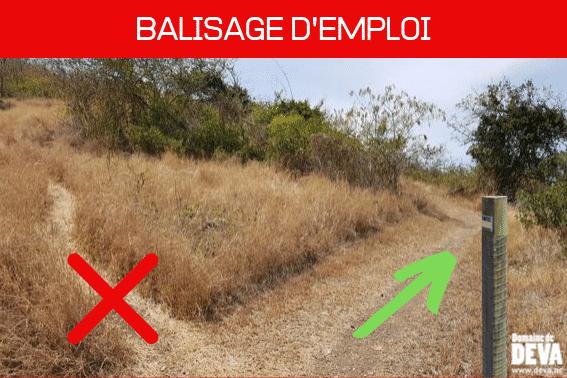 promeneur, traileur, cavalier ou vététiste, il est important que chacun respecte et suive les différentes balisages mis en place sur le Domaine de Déva à Bourail.