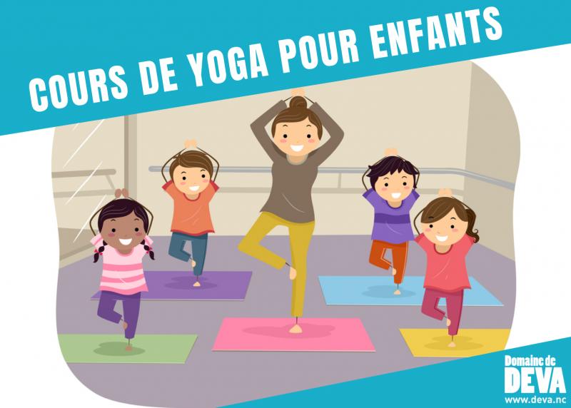 Cours de Yoga pour les enfants au point d'accueil et d'informations du Domaine de déva