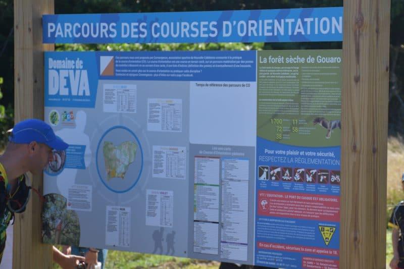 Parcours de course d'orientation permanents au Domaine de Déva à Bourail