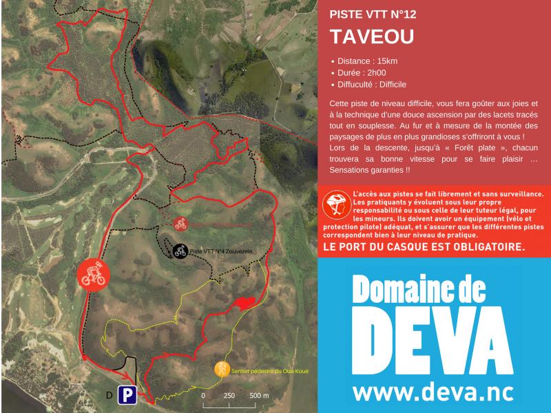 Piste VTT N°12 Au Domaine de Déva à Bourail en Nouvelle-Calédonie