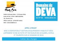 Cahier des charges pour l'appel à Projet pour la mise à disposition et gestion d'équipements publics et développement d'une activité VTT en faveur des scolaires, hôtels et touristes du Domaine de Déva.