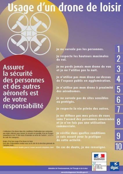 notice pour l'utilisation de drone de loisir nottament sur le Domaine de Déva à Bourail
